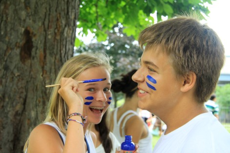 MWS Montreal - face painting for Olympics